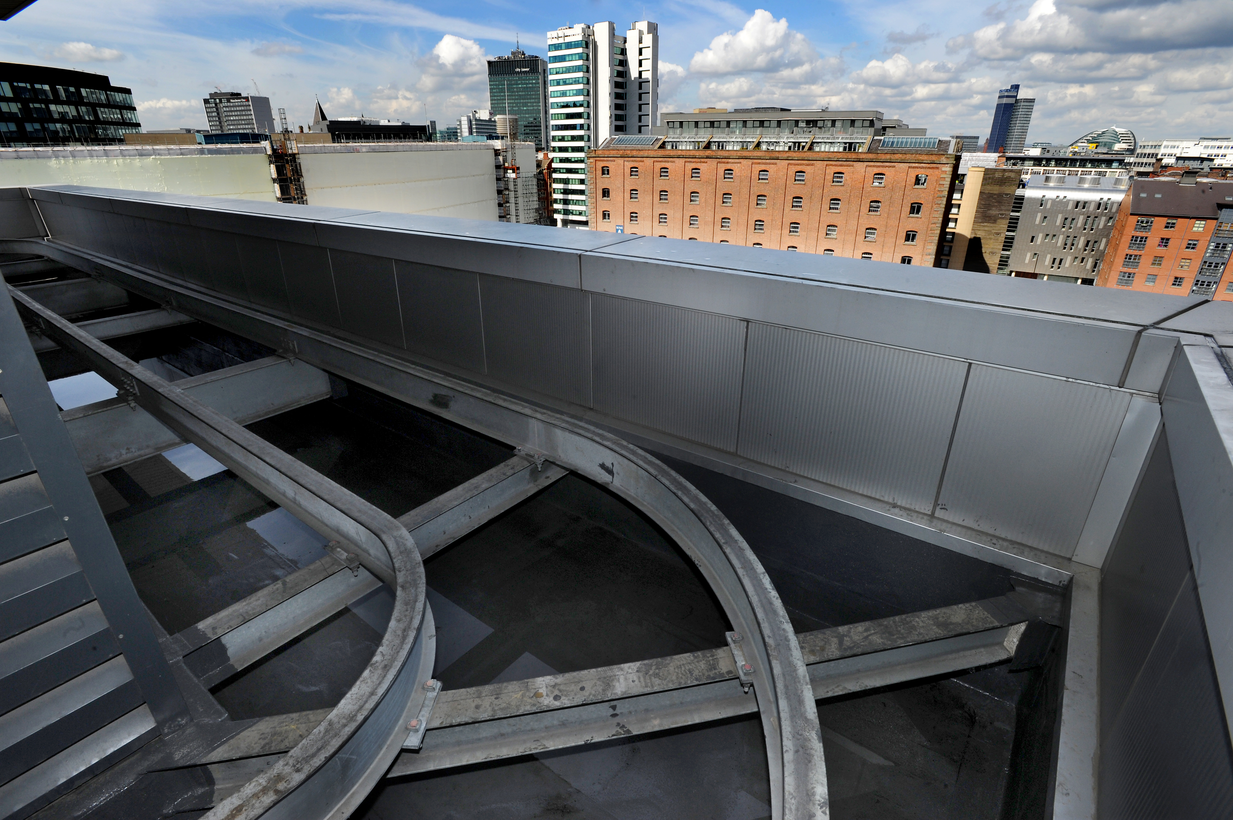 Piccadilly Gate offices, Manchester. Re-sealed roof by Castle Construction with Kemper Systems. Picture by Paul Heyes, Wednesday April 13, 2016.